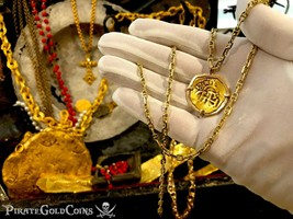 SPAIN 2 ESCUDOS 1617 ATOCHA ERA PENDANT PIRATE GOLD COINS JEWELRY TREASURE - $2,950.00