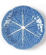 "Vintage Bordallo Pinheiro 7 5/8"" Blue Color Cabbage Style Lunch Plate- P... - $15.99"