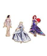 Disney Designer Princess Pin Set Limited Snow White, Cinderella, Ariel - $69.99
