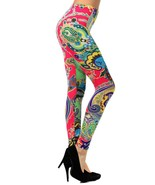 Gypsy Paisley and Flowers Printed Legging - $15.99