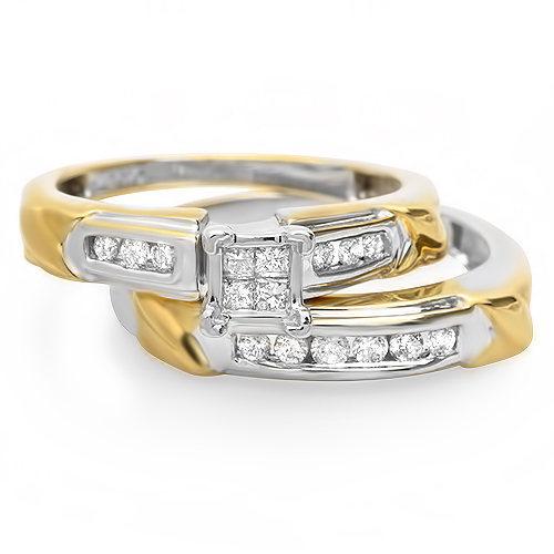 .88 ctw Diamond Engagement ring set 14k gold