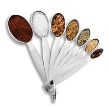 Spring Chef Measuring Spoons, Heavy Duty Oval Stainless Steel Metal, for... - $12.23