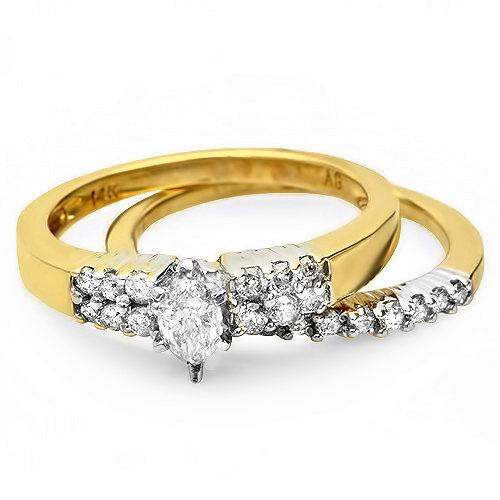.95 ctw Diamond Engagement ring 14k gold