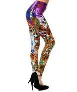 The Scicolone Leopard Abstract Swirl Printed Legging - $15.99