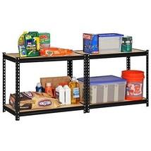 Industrial Storage Shelves Adjustable Commercial Steel Rack Shelving Sys... - $97.07