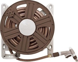"""Side Mount Hose Reel With 100 Feet 5/8"""" Hose Capacity Easy To Mount Brown - €27,60 EUR"""