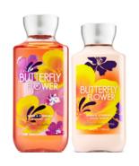Bath & Body Works Butterfly Flower Shower Gel 10 fl oz & Body Lotion 8 f... - $23.70