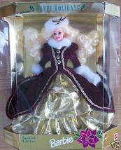 1996 HAPPY HOLIDAYS SPECIAL ED. BURGUNDY BARBIE  NRFB - $22.00