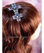"Austrian Crystal Headband Hairband ""Chloe"" Multi Color free organza bag - $15.75"