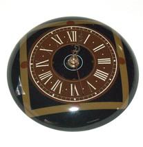Vintage Nahariya Glass Andreas Meyer Israel Handmade Wall Hang Clock 1970's image 3