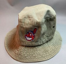 Vintage Cleveland Indians Chief Wahoo Bucket Hat MLB Baseball Embroidere... - $14.20