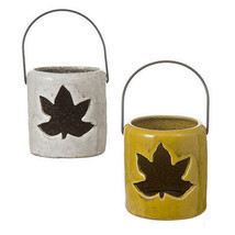 Darice Ceramic Fall Lantern: 3.25 x 3.25 inches, 3 Assorted Colors w - $7.99