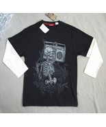 Union Bay Boys Size M Black Tee with Skeleton NWT - $14.99