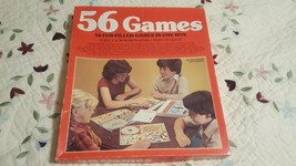 Vintage Whitman 56 Games In 1 Box. Jump, Hunt, Race Or Spin!56 Dif Games To Win! - $9.89