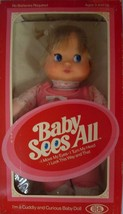 "IDEAL 1981 BABY  SEES ALL 12"" DOLL MOVES EYES & TURNS HEAD NRFB - $64.35"