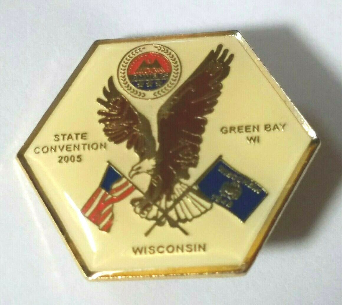 VINTAGE WISCONSIN AMVETS STATE CONVENTION GREEN BAY 2005 Lapel Pin
