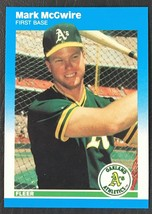 1987 Fleer Update #U-76 Mark McGwire Rookie - MINT - Oakland Athletics - $1.68