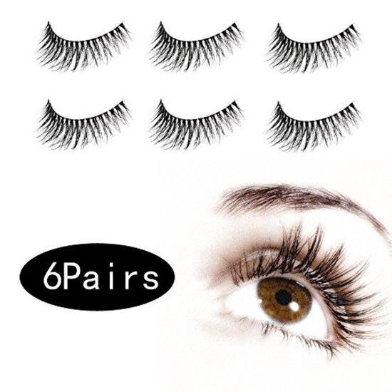 Primary image for 6 Pair 3D False Eyelashes Make Up Natural Long Fake Eyelashes With Give-away Eye