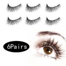 6 Pair 3D False Eyelashes Make Up Natural Long Fake Eyelashes With Give-... - $24.54