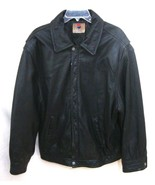 PEPSI Black Leather Promo Jacket Vintage RARE Zip Front Lined Motorcycle... - $123.75