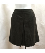 Uniqlo 10 Skirt Gray Wool Blend Pleated New - $21.54