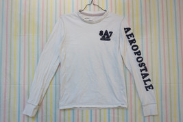 Aeropostale Long Sleeve Cotton T-Shirt, White, Men's XS 04745 - $10.00
