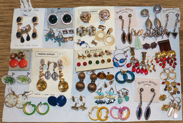 Free Shipping 79 Pair of Vintage to Now Pierced Clip Screw Back Earrings - $110.00