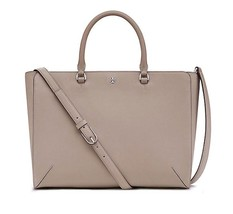 b7110eb31d2 Tory Burch Robinson Small Zip Tote Saffiano Leather in French Grey -  £173.88 GBP