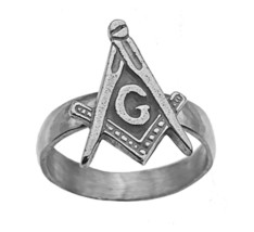 Freemason Symbol Real Sterling Silver 925 Band Ring Free mason Masonic J... - $28.39