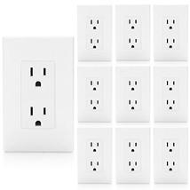 [10 Pack] BESTTEN 15A Decor Receptacle Standard Duplex Electrical Wall O... - $37.06