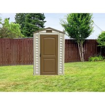 Storage Shed w/ Floor 4x6 Heavy Duty Galvanized Steel Lockable Door Outd... - $491.84