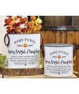 Farm Fresh Pumpkin Buckets Galvanized Metal 2 Set Fall decor Floral - $39.99