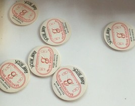 6 Vtg MILK BOTTLE CAPS - Beauchemin Dairy RAW MILK 1940's NOS - $5.88