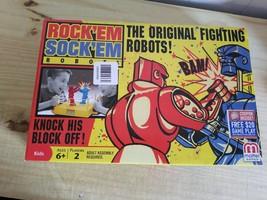 Mattel Games Original Classic Rock 'Em Sock 'Em Robots Game Rockem Socke... - $28.04