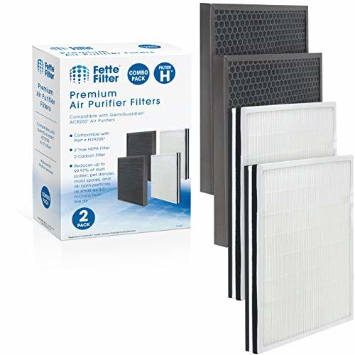 Fette Filter - True HEPA Air Purifier Filter H and Carbon Combo Pack Compatible