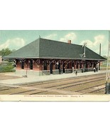 Delaware Lackawanna Railroad Depot Waverly New York Vintage Post Card - $6.00