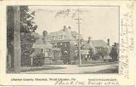 County Hospital West Chester Penna Vintage 1906 Post Card - $6.00