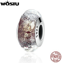WOSTU Real 925 Sterling Silver Sparkling Murano Glass Beads Fit Original... - $24.68+