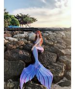 2018 NEW Blue Swimmable Mermaid Tail for Kids Women with Monofin,Mermaid... - $99.99+
