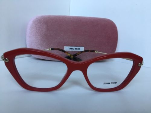9c947dd408 New Miu Miu VMU 04L UA4-101 52mm Red Cat Eye and 30 similar items