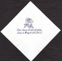 ROSE LOGO 50 Personalized printed cocktail beverage napkins image 4
