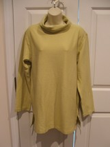 new in pkg vintage  newport news 100% cotton ribbed long sleeve tunic to... - $12.86