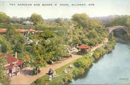 Alloway Tea Gardens Ayrshire Scotland vintage 1930 Post Card - $6.00