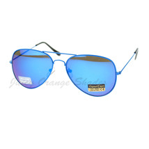 Thin Metal Frame Aviator Sunglasses Bright Neon Colors Mirror Lens - $7.87+