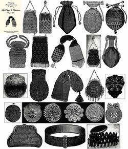 1900 Victorian Edwardian Era Purse Pattern Book Beaded Bags Reticules Patterns