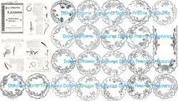 1900 Victorian Era Embroidery Design Book Doiley Kensington Embroider Patterns