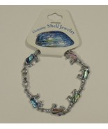 Bear Abalone Shell Inlayed Charm Bracelet 7 1/2 in - $6.14
