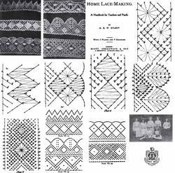 1906 Edwardian Pillow Lace Book Patterns Bobbin Laces Pattern Lacemaking Designs