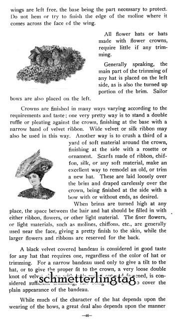 1909 Gibson Girl Era Millinery Book Make Hats Hat Making Milliner DIY Guide