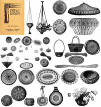 1920 Pine Needle Basketry Book Making How to Make Baskets of Conifer Nee... - $9.99